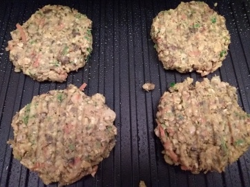 Homemade bean burgers made on a more doable day