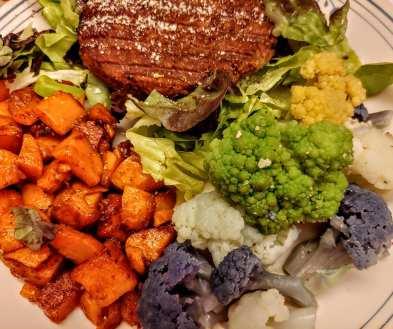 Sweet Potato served as side